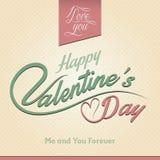 De Kaart van de de Daggroet van gelukkig Valentine Stock Foto