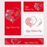 De Kaart van de de daggroet van gelukkig Valentine - illustratie Royalty-vrije Stock Foto