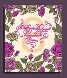 De kaart van de de Daggroet van gelukkige Vrouwen, giftkaart op roze achtergrond met ontwerp van vrouwen en tekst 8ste Maart Stock Fotografie