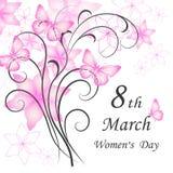 De kaart van de de Daggroet van vrouwen stock illustratie