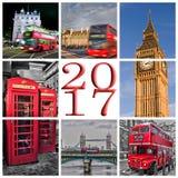 2017 de kaart van de de foto'sgroet van Londen Stock Fotografie