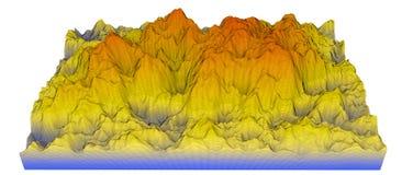 De kaart van de de hoogtekleur van de hulp die op wit wordt geïsoleerd= vector illustratie