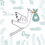 De kaart van de de jongensaankondiging van de baby Royalty-vrije Stock Foto