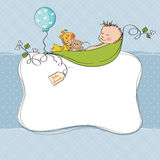 De kaart van de de jongensdouche van de baby Royalty-vrije Stock Foto's