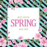 De kaart van de de lenteverkoop Royalty-vrije Stock Foto's