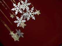 De kaart van de de vakantiegroet van de sneeuwvlok Stock Foto