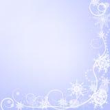 De kaart van de de wintergroet met sneeuwvlokken stock illustratie