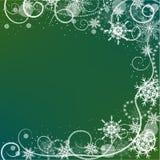 De kaart van de de wintergroet met sneeuwvlokkenkader royalty-vrije illustratie