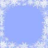 De kaart van de de wintergroet met sneeuwvlokkenkader stock illustratie
