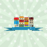 De kaart van de de wintervakantie Stock Foto