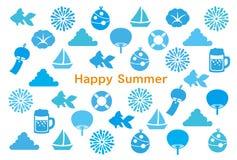 De kaart van de de zomergroet Royalty-vrije Stock Fotografie