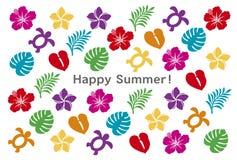 De kaart van de de zomergroet Stock Foto