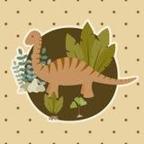 De kaart van de dinosaurus vector illustratie