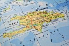 De kaart van de Dominicaanse Republiek, Haïti. Royalty-vrije Stock Fotografie