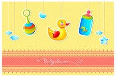 De Kaart van de Douche van de baby Stock Fotografie