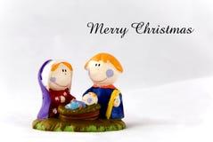 De kaart van de geboorte van Christus Stock Fotografie