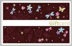 De kaart van de gift met vlinder Royalty-vrije Stock Afbeelding