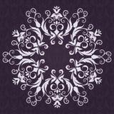 De kaart van de Uitnodiging van het kant met abstracte bloemenbackgrou Royalty-vrije Stock Foto