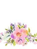 De Kaart van de groet met bloemen Stock Foto's