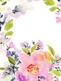 De Kaart van de groet met bloemen Stock Fotografie