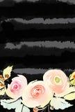 De Kaart van de groet met bloemen Royalty-vrije Stock Foto's