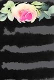 De Kaart van de groet met bloemen Stock Afbeelding