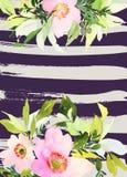 De Kaart van de groet met bloemen Royalty-vrije Stock Afbeeldingen