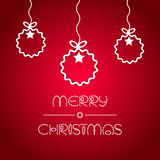 De kaart van de groet met de ballen van Kerstmis Royalty-vrije Stock Afbeelding