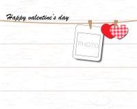 De kaart van de groet met de Dag van de Valentijnskaart Stock Foto