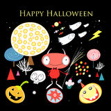 De kaart van de groet met Halloween Royalty-vrije Stock Foto's