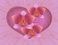 De kaart van de groet met hart Royalty-vrije Stock Fotografie