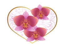 De kaart van de groet met hart Royalty-vrije Stock Afbeeldingen