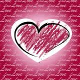De kaart van de groet met hart Stock Foto