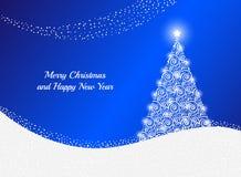 De kaart van de groet met Kerstmisboom Royalty-vrije Stock Fotografie
