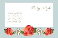 De kaart van de groet met rozen royalty-vrije illustratie