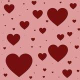 De kaart van de groet tegen dag van heilige Valentijnskaart. royalty-vrije illustratie