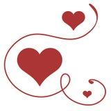 De kaart van de groet tegen de dag van de Valentijnskaart. stock illustratie