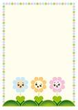De kaart van de groet of uitnodiging met bloemen Stock Afbeeldingen