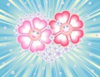 De kaart van de groet (valentijnskaart, huwelijk) Royalty-vrije Stock Afbeeldingen