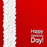 De Kaart van de Groet van de Dag van valentijnskaarten Stock Afbeelding
