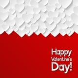 De Kaart van de Groet van de Dag van valentijnskaarten Stock Foto's