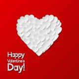 De Kaart van de Groet van de Dag van valentijnskaarten Royalty-vrije Stock Afbeelding