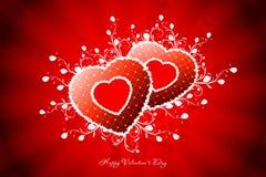 De Kaart van de Groet van de Dag van valentijnskaarten Royalty-vrije Stock Foto