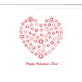 De Kaart van de Groet van de Dag van valentijnskaarten Royalty-vrije Stock Fotografie
