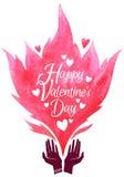 De Kaart van de Groet van de Dag van valentijnskaarten Vector illustratie stock illustratie