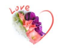De Kaart van de Groet van de liefde - St de Dag van Valentijnskaarten Stock Foto's