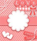 De Kaart van de Groet van de valentijnskaart Stock Foto