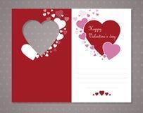 De Kaart van de Groet van de valentijnskaart Royalty-vrije Stock Foto