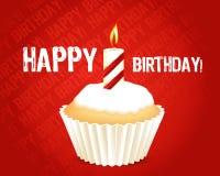 De kaart van de Groet van de verjaardag cupcake Royalty-vrije Stock Foto
