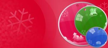 De kaart van de Groet van Kerstmis Stock Foto's